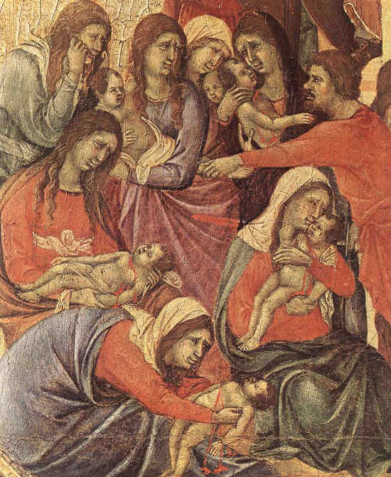 Detail from Slaughter of the Innocents  Duccio di Buoninsegna